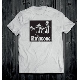 Simpson férfi póló fehér