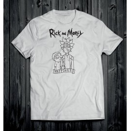 Rick és Morty 2 férfi póló fehér
