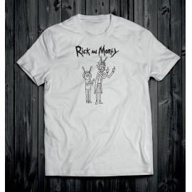 Rick és Morty 3 férfi póló fehér