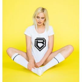Botondroll póló női fehér