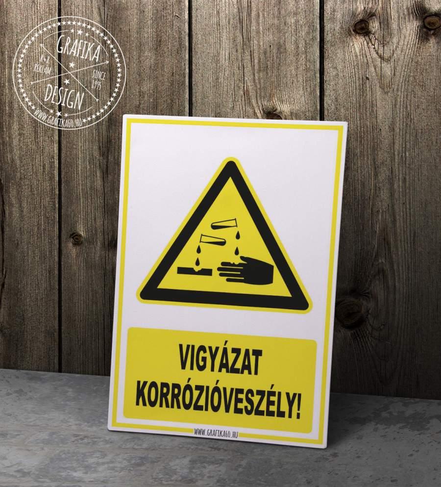 Vigyázat korrózióveszély!
