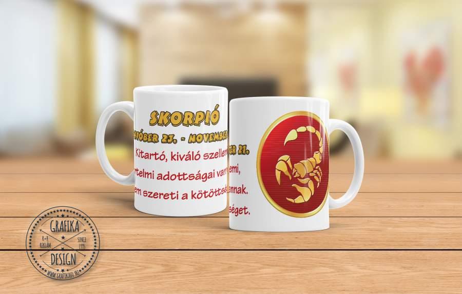 Horoszkópos bögre Skorpió 01