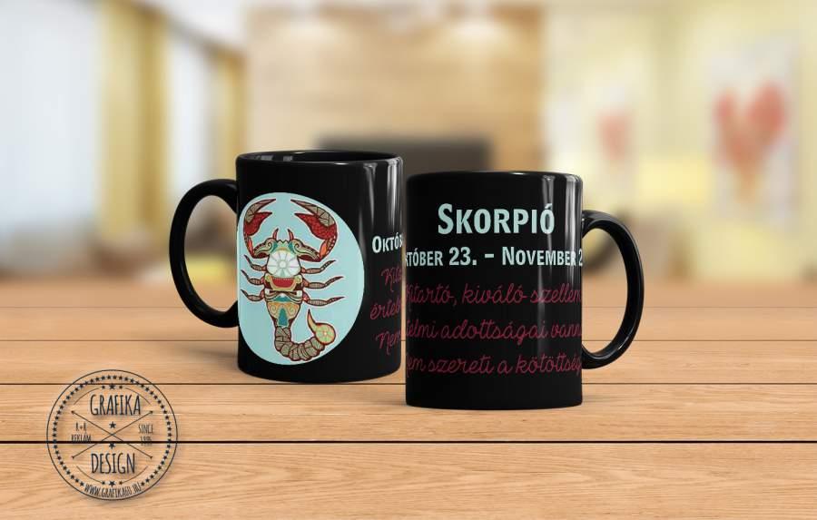 Horoszkópos bögre Skorpió 02