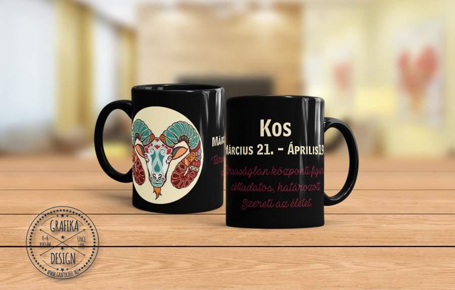 Horoszkópos bögre Kos 02