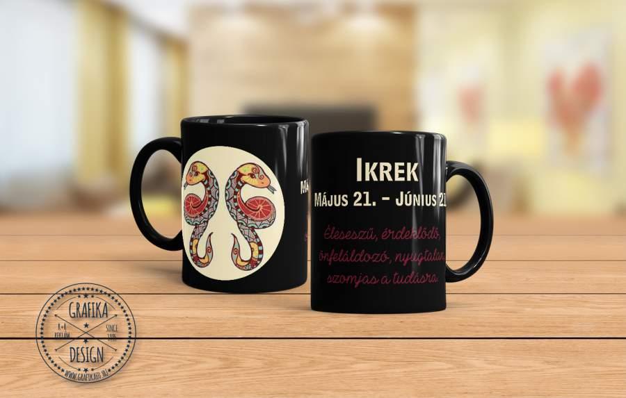 Horoszkópos bögre Ikrek 02