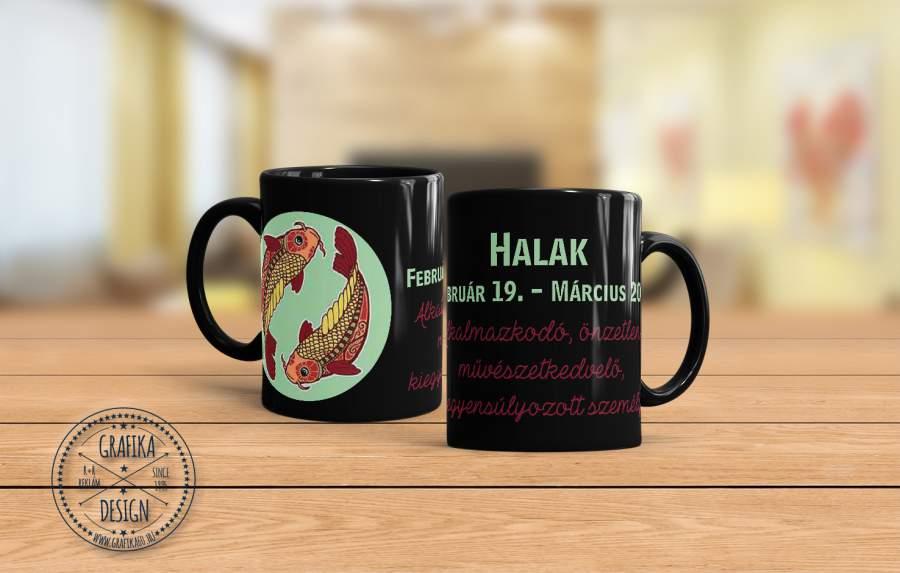 Horoszkópos bögre Halak 02