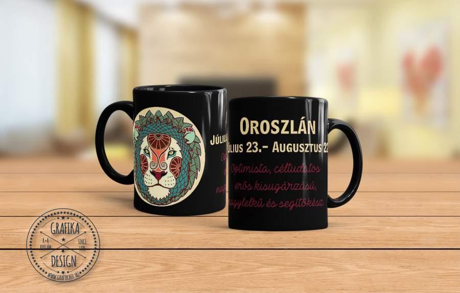 Horoszkópos bögre Oroszlán 02