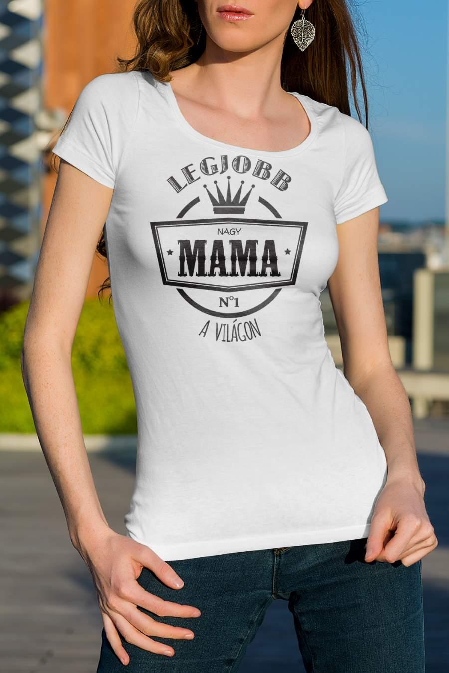 Női póló fehér legjobb mama