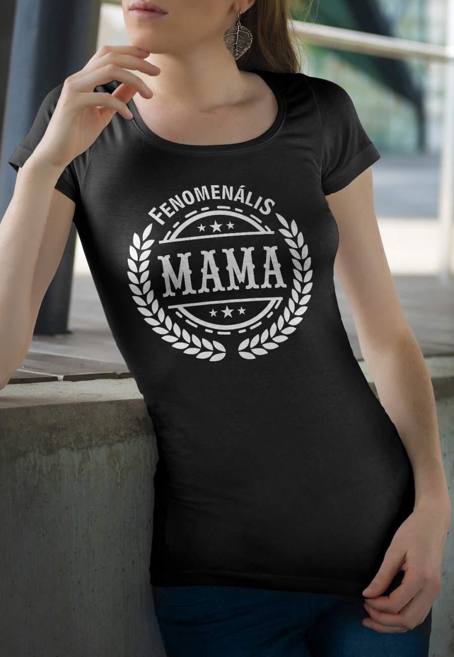 Női póló fekete fenomenális mama