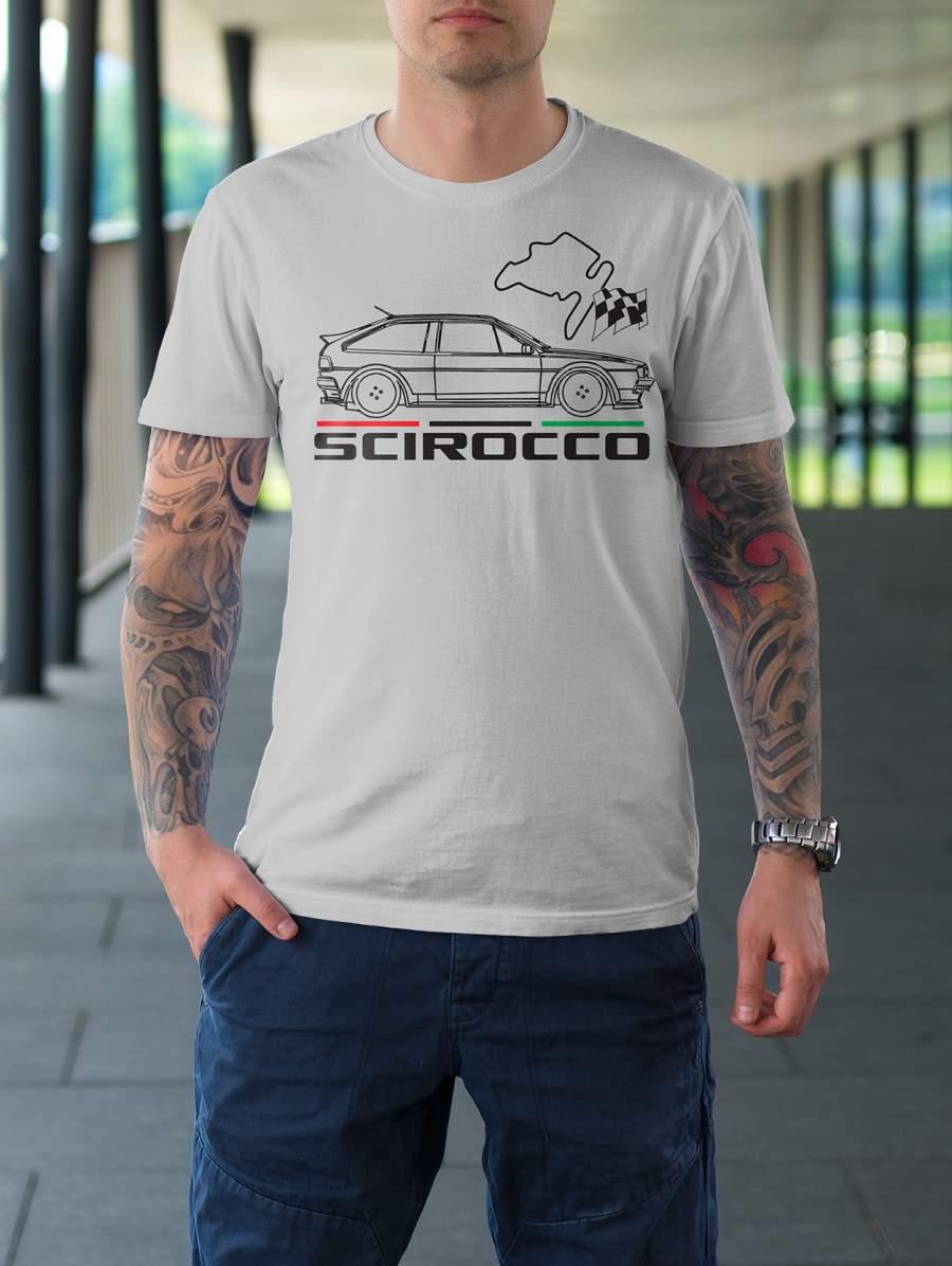 Férfi póló fehér Scirocco