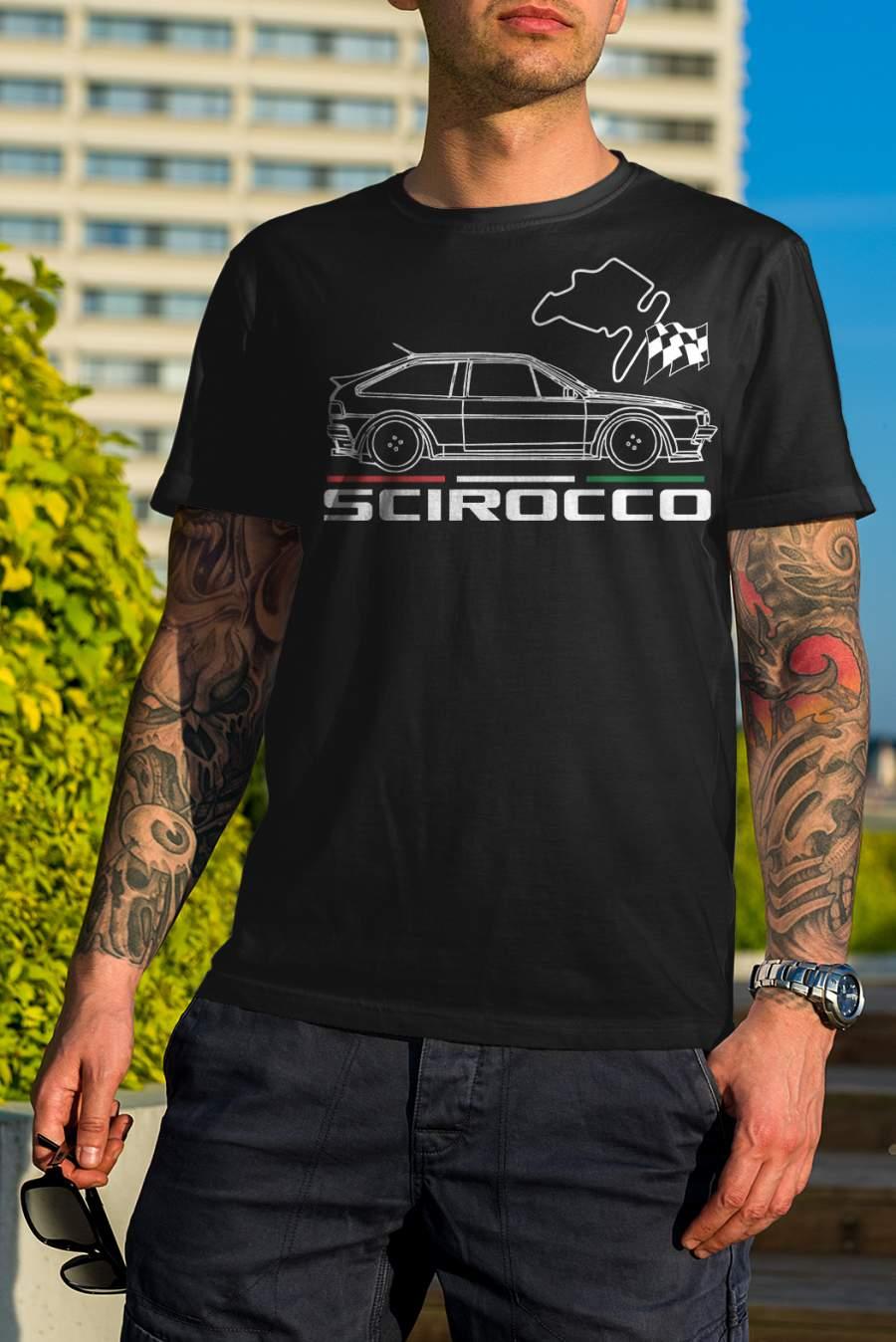 Férfi póló fekete Scirocco