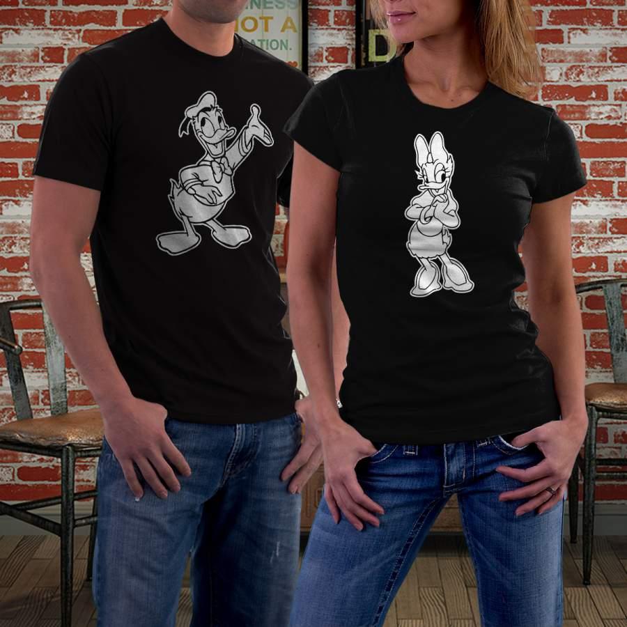 Fekete Donald & Daisy  póló pároknak