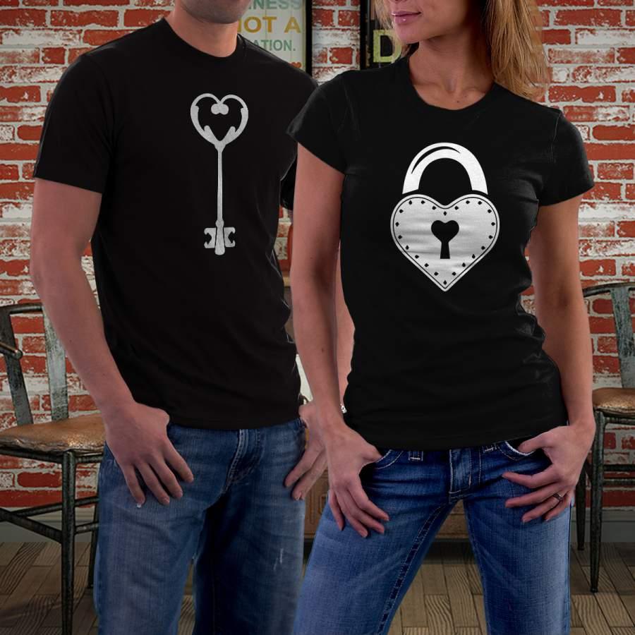 Fekete kulcs & lakat póló pároknak