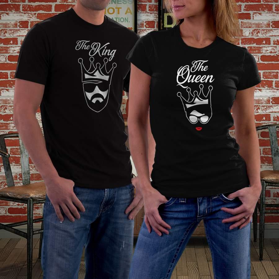 Fekete king & queen póló pároknak