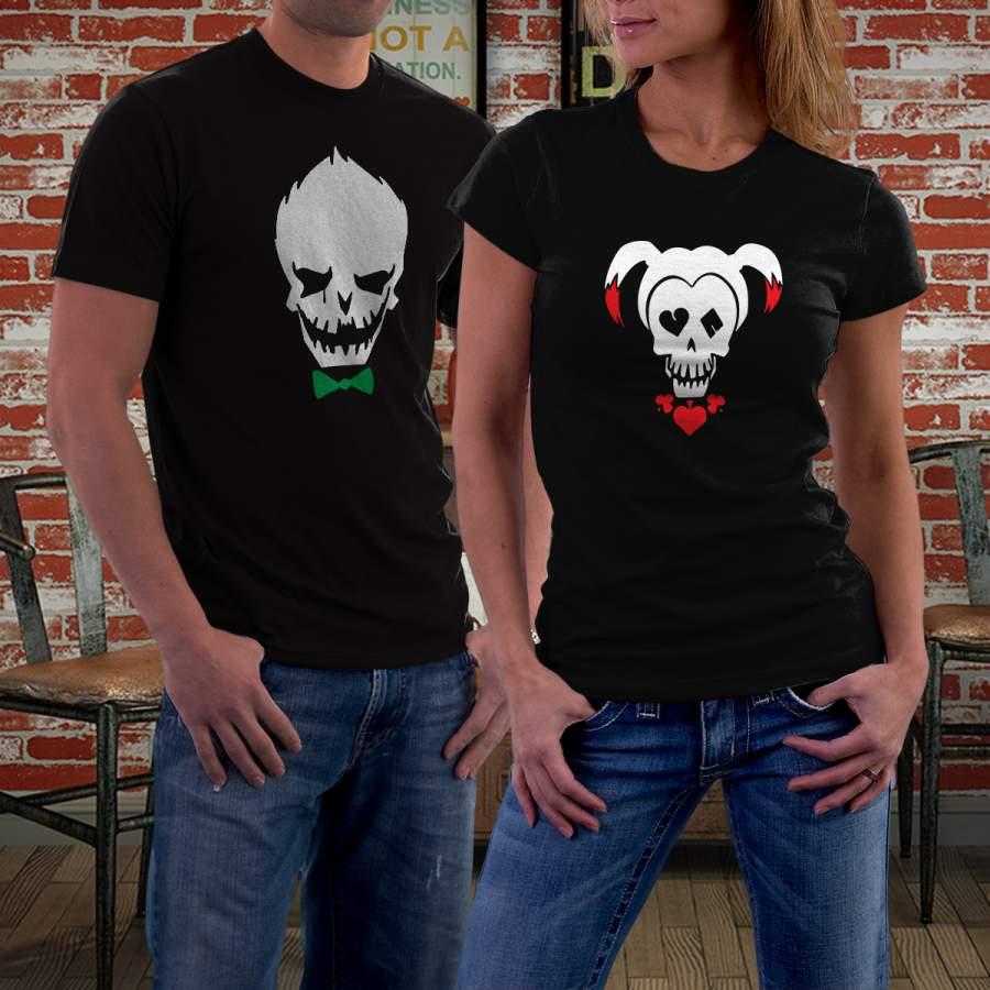 Fekete Joker &Harley Quinn póló pároknak