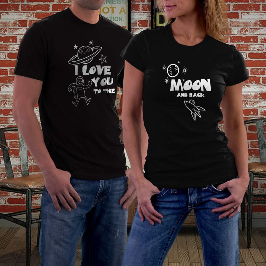 Fekete holdas póló pároknak