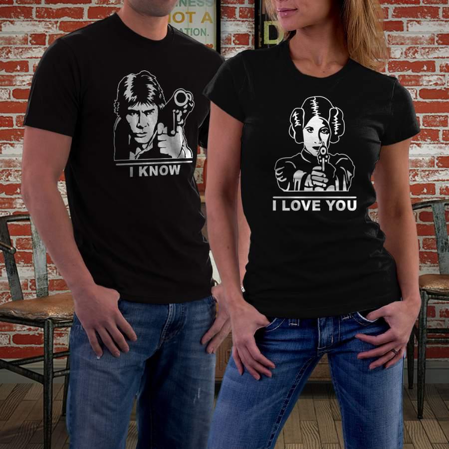 Fekete Star Wars 01 póló pároknak