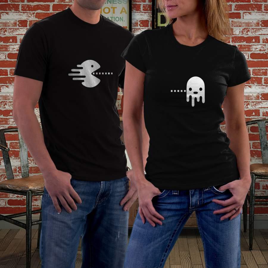 Fekete Pacman póló pároknak
