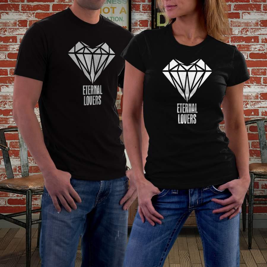 Fekete gyémántos póló pároknak