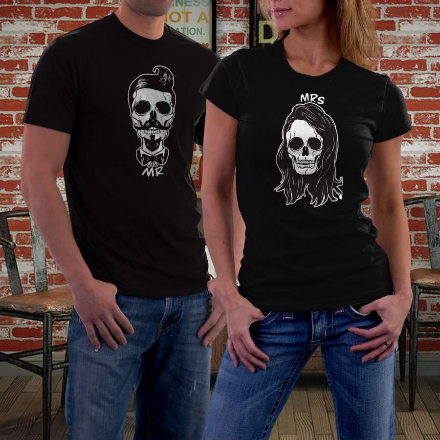 Fekete koponyás póló pároknak