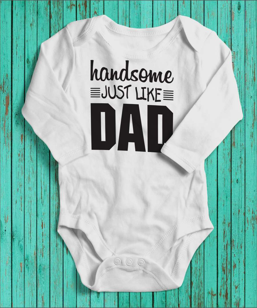 Handsome Like Dad fehér gyerek body