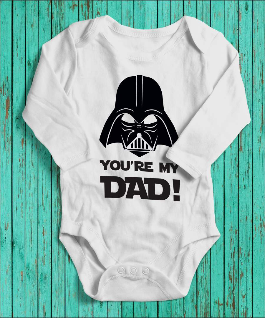 Darth Vader angol fehér gyerek body