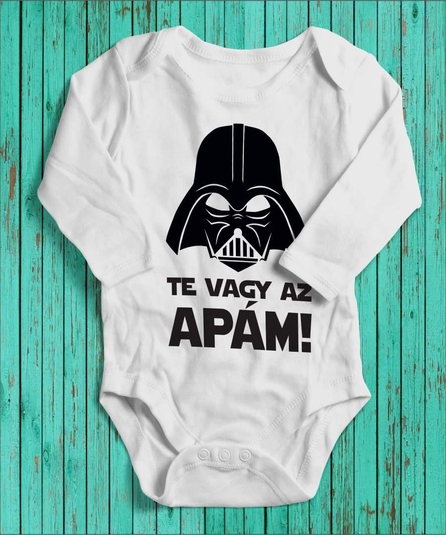 Darth Vader magyar fehér gyerek body