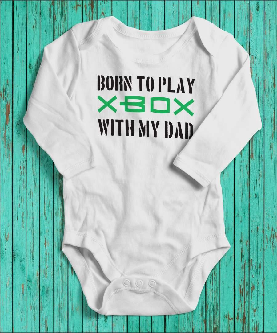 Born to play fehér gyerek body