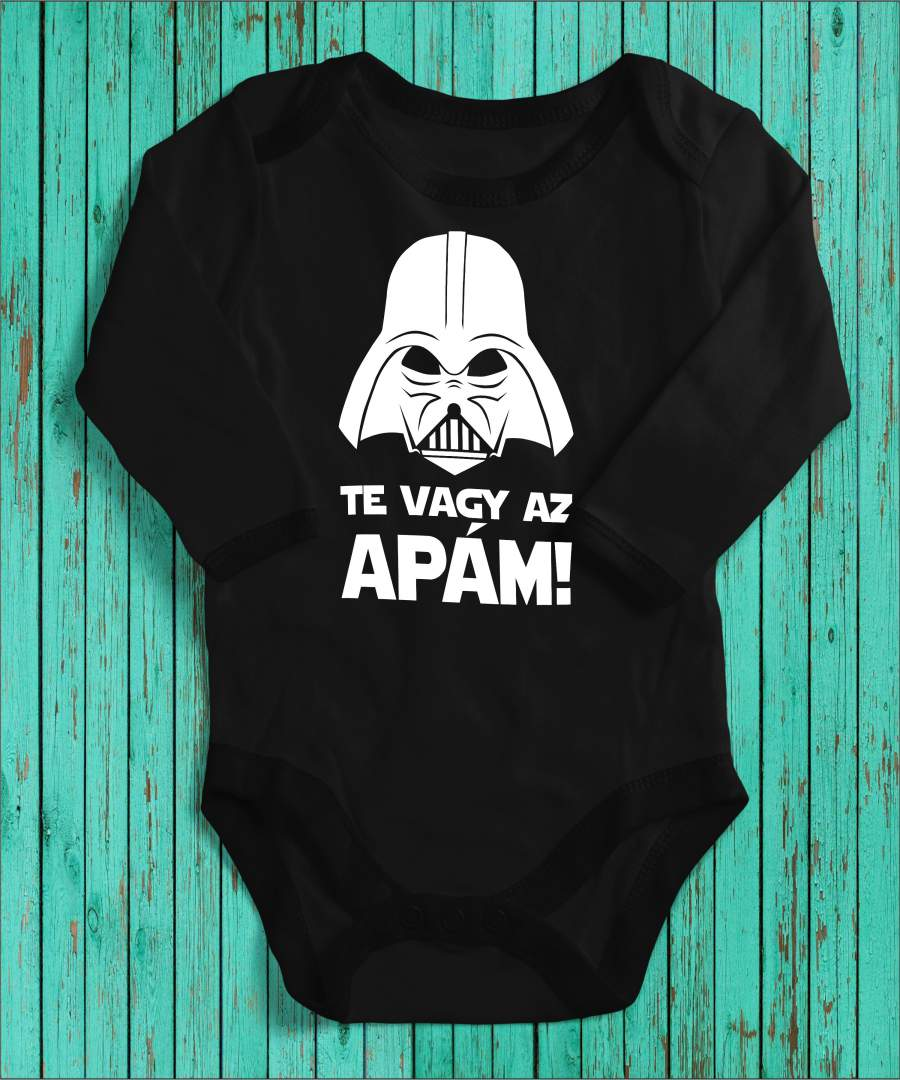 Darth Vader magyar fekete gyerek body