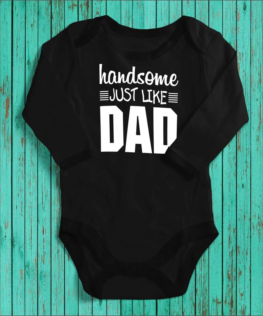 Handsome like dad fekete gyerek body