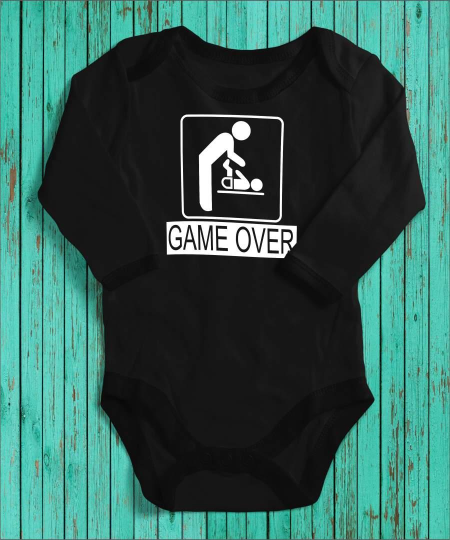 Game over fekete gyerek body