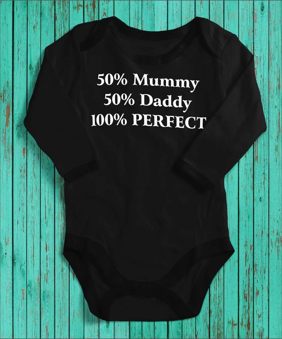 100% Perfection fekete gyerek body