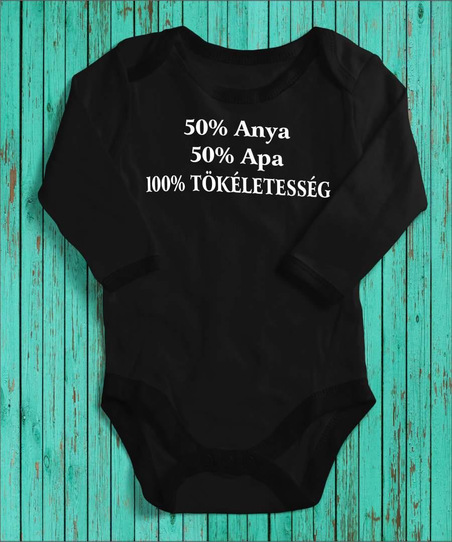 100% Tökéletesség fekete gyerek body
