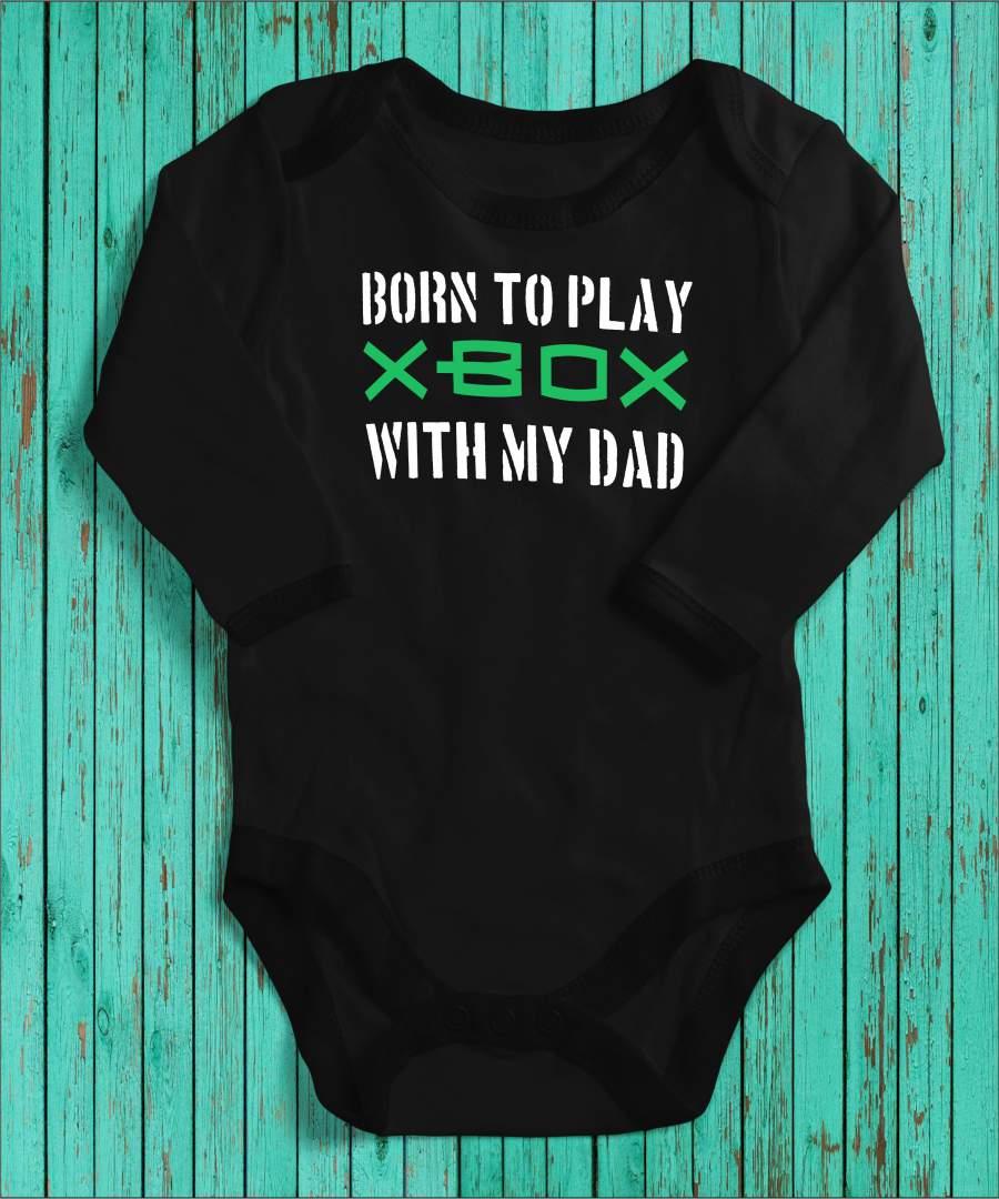 Born to play fekete gyerek body