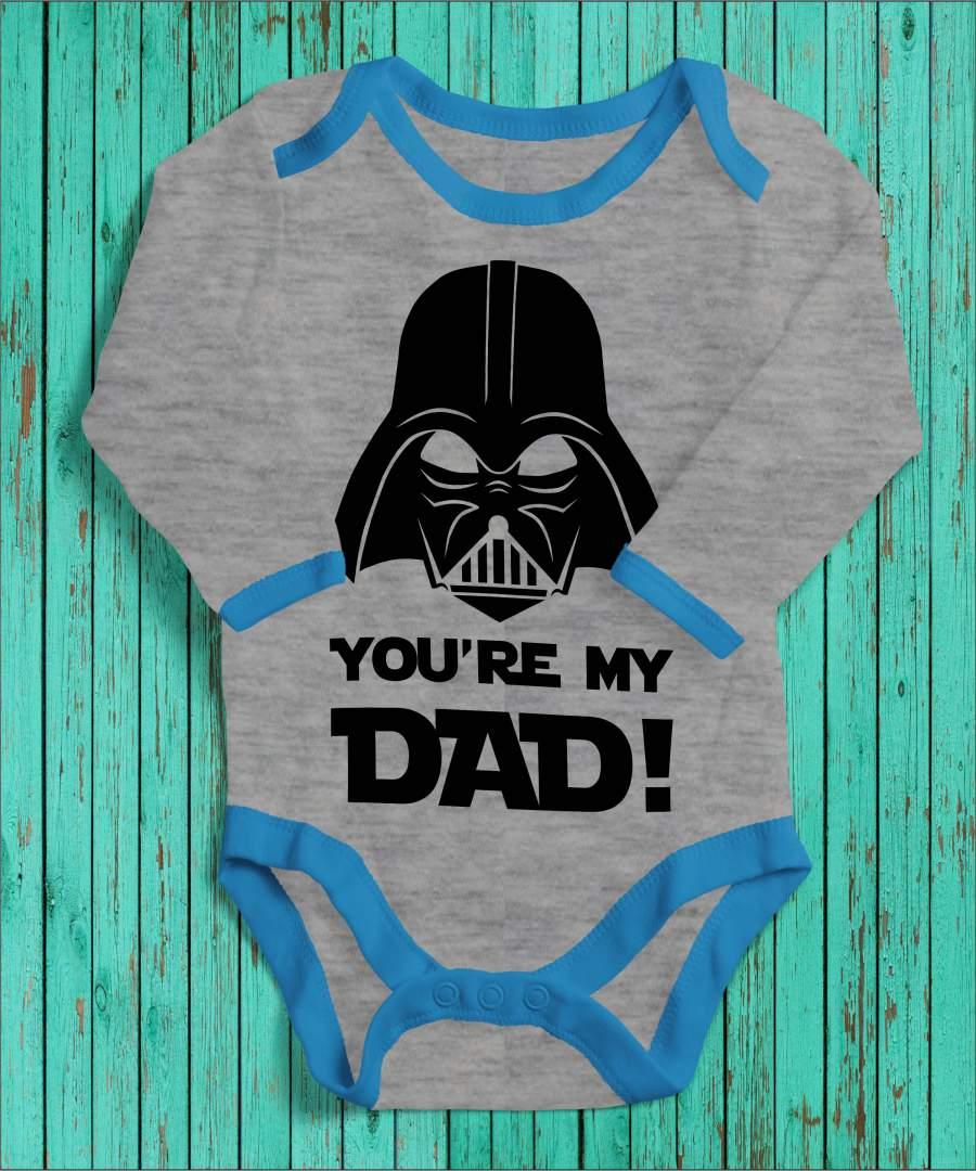 Dart Vader angol szürke/kék gyerek body