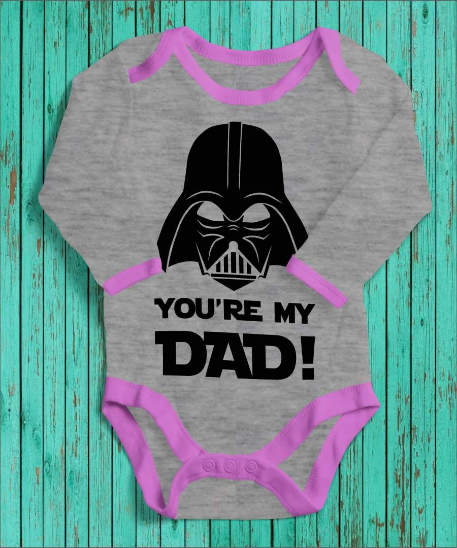 Darth Vader angol szürke/rózsaszín gyerek body