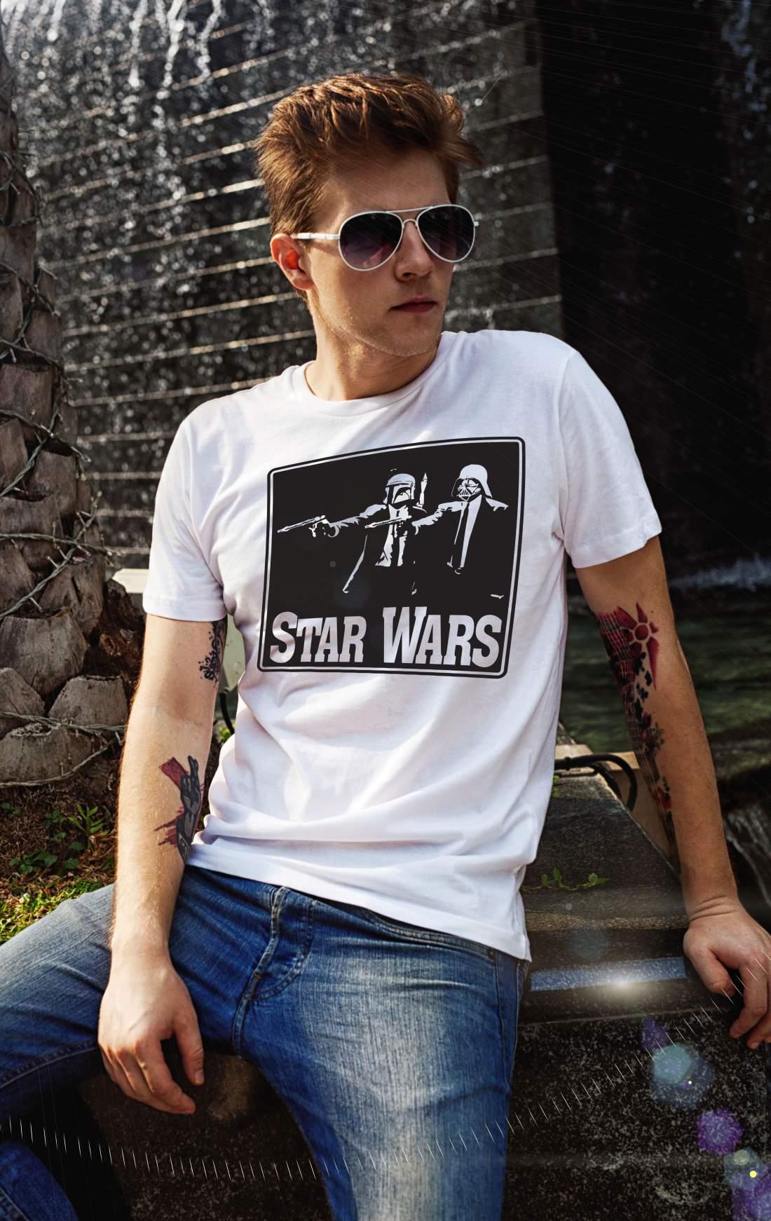 Star Wars 2 férfi póló fehér