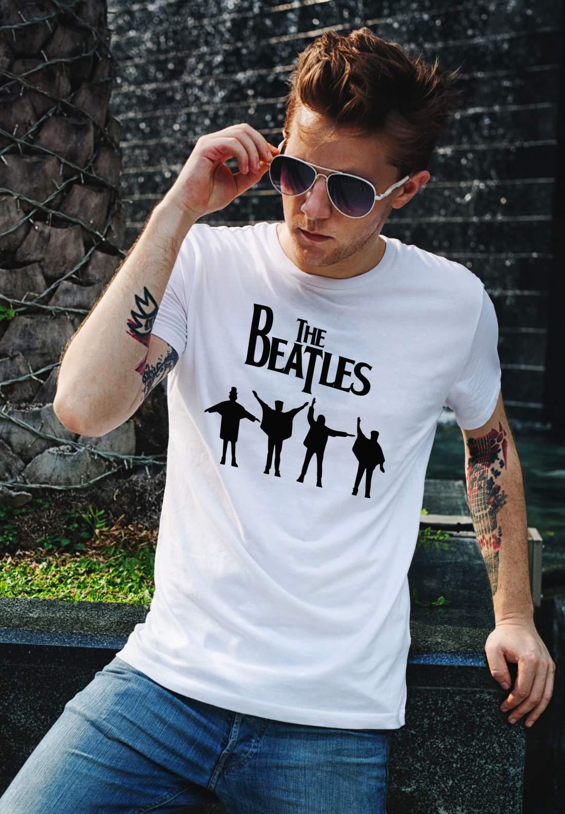 The Beatles 4 férfi póló fehér