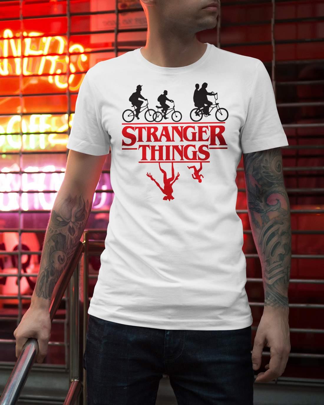 Stranger Things 2 férfi póló fehér