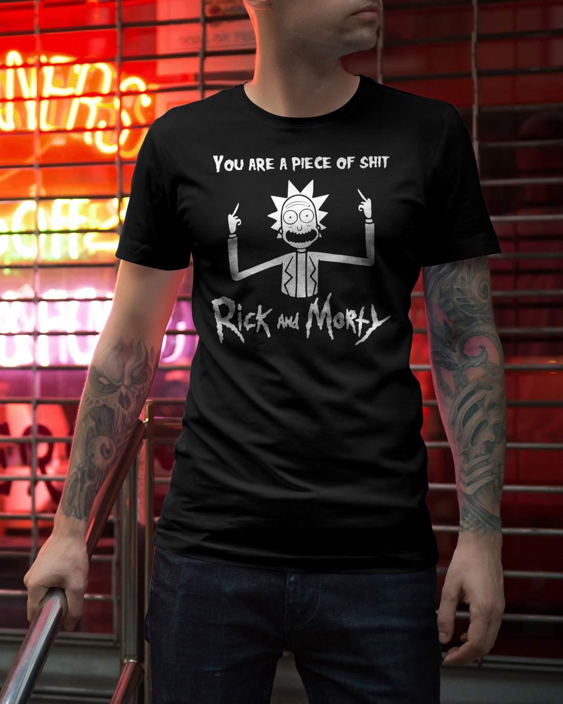 Rick és Morty 1 férfi póló fekete