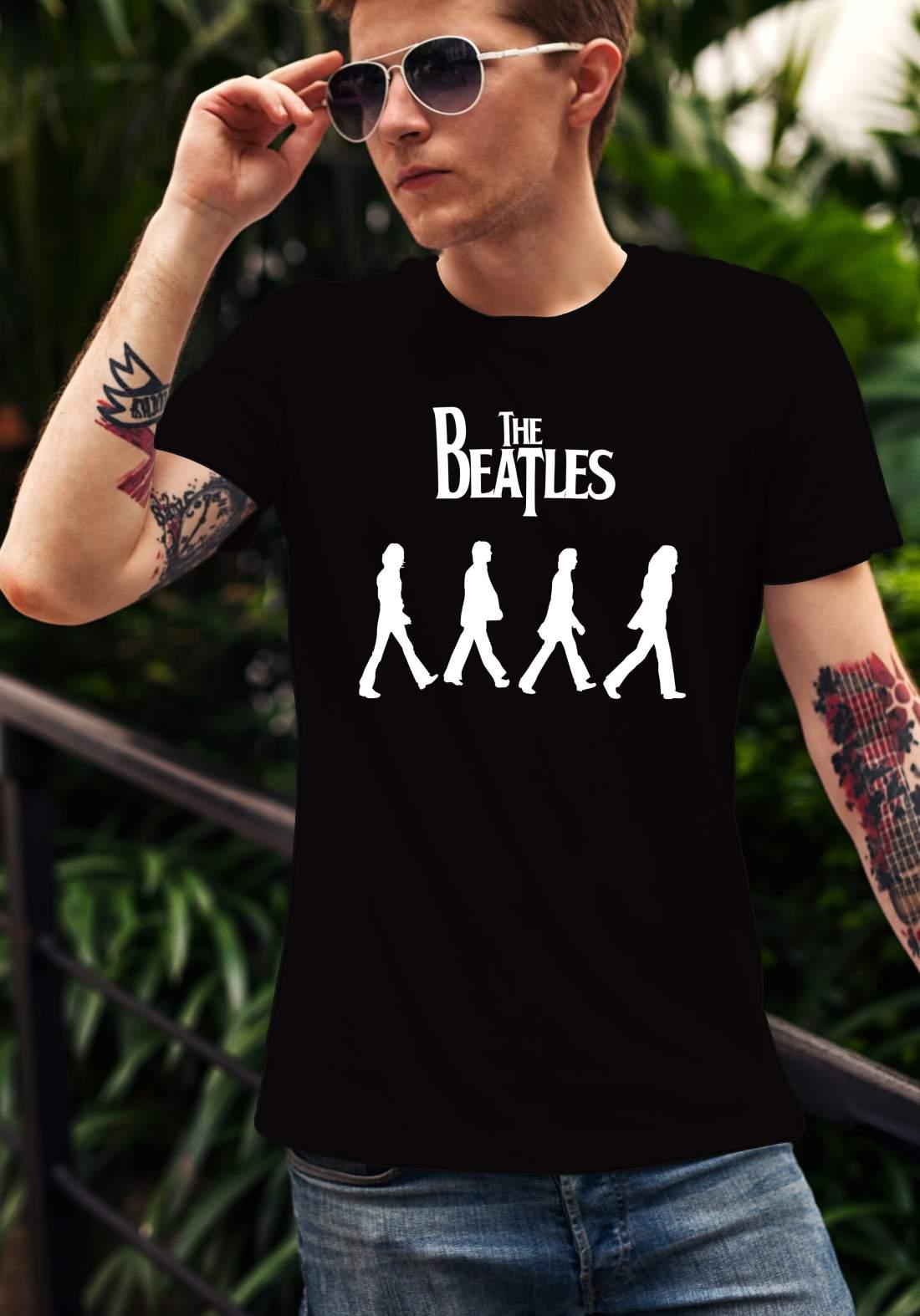 The Beatles 1 férfi póló fekete