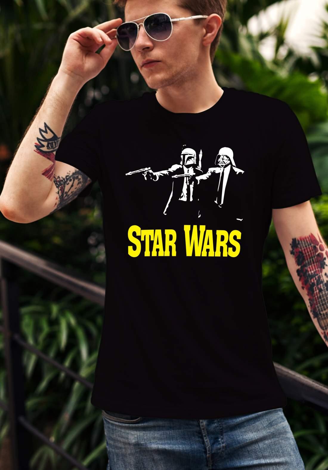 Star Wars 2 férfi póló fekete