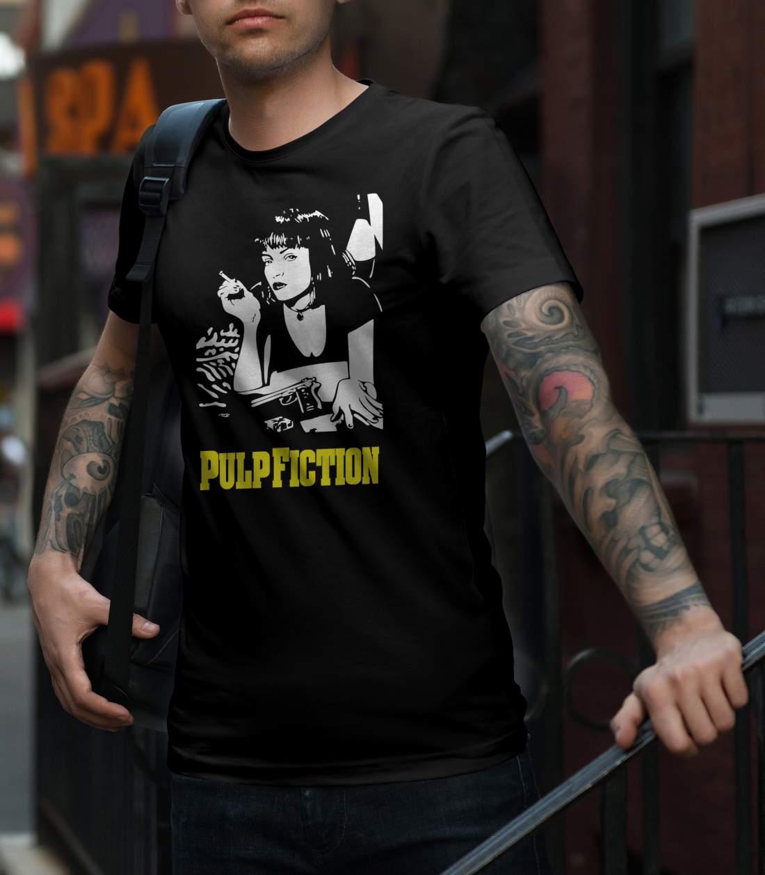 Pulp Fiction Mia férfi póló fekete