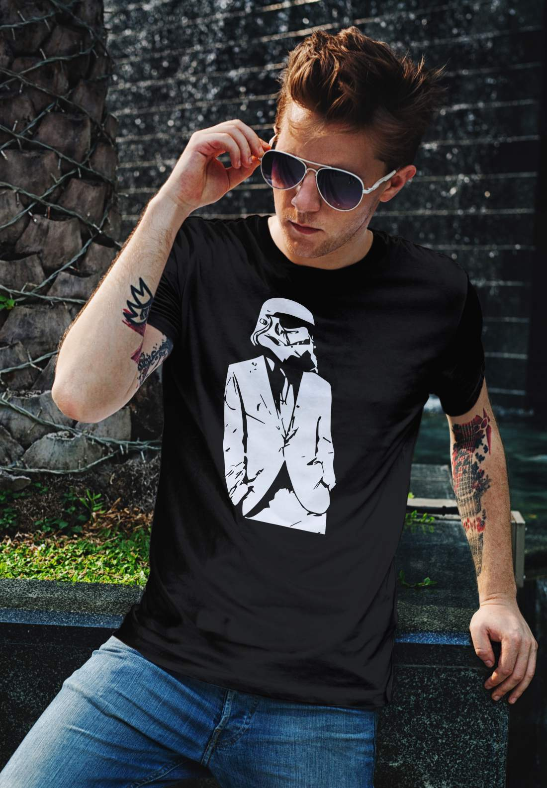 Star Wars 3 férfi póló fekete