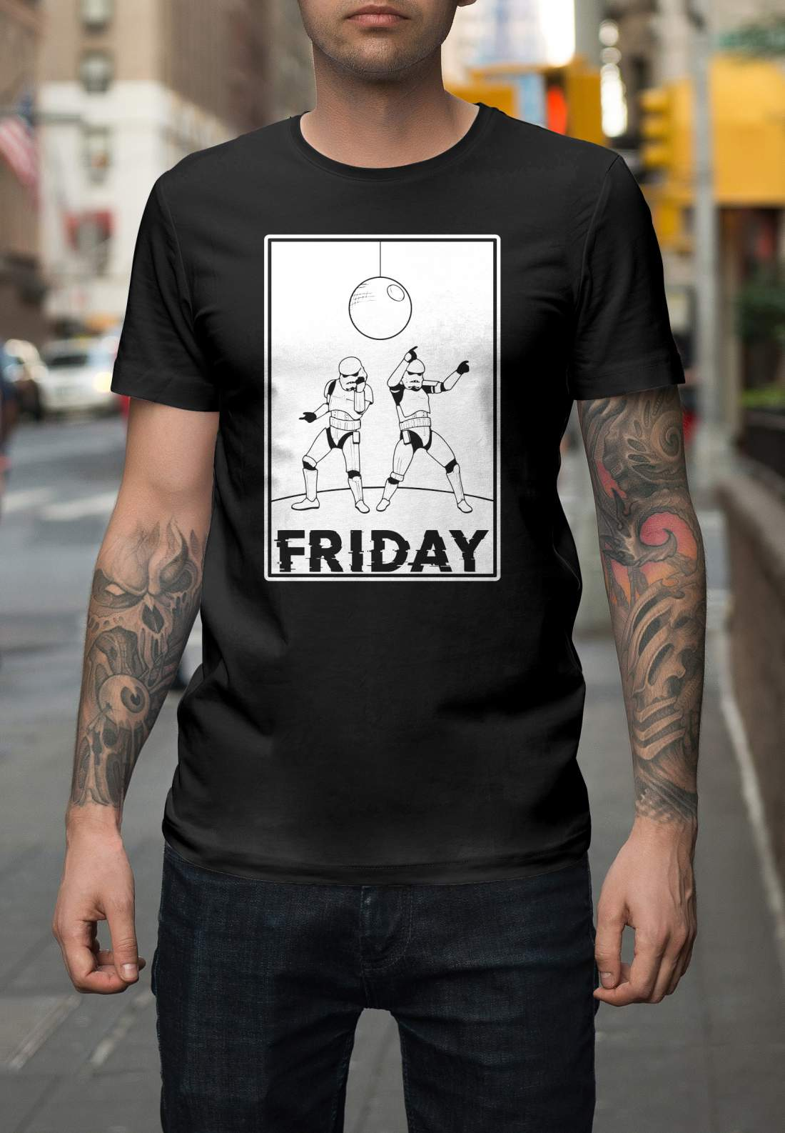 Star Wars 5 férfi póló fekete