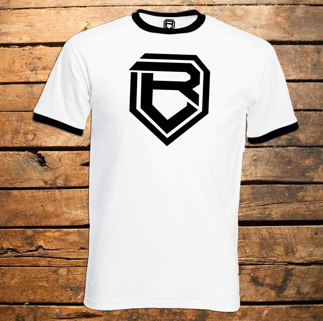Botondroll póló fehér/fekete