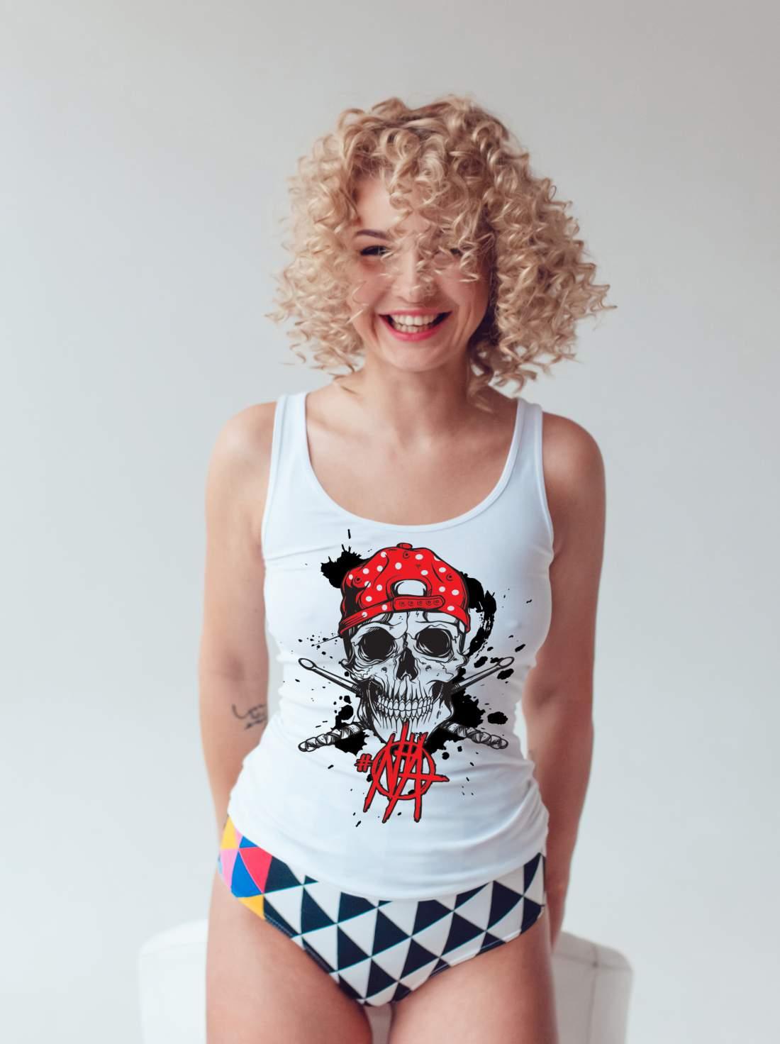 #NHA ujjatlan póló női  fehér